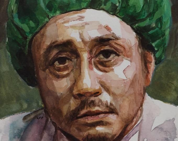Oh Dae-Su watercolor, 8x6in, OldBoy, Choi Min-sik, Oldeuboi
