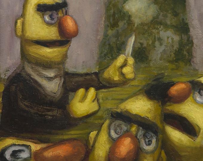 Symplegades, oil painting original by LVP