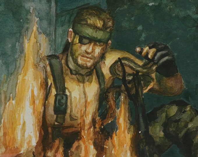 Snake Eater, PRINT from watercolor painting - multiple sizes
