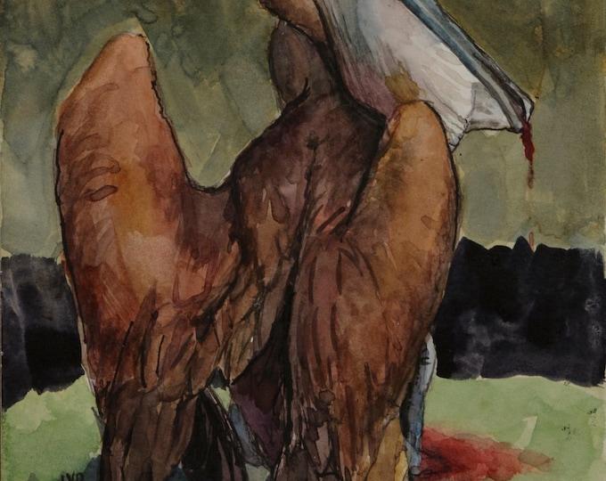 Original watercolor, 8x6in
