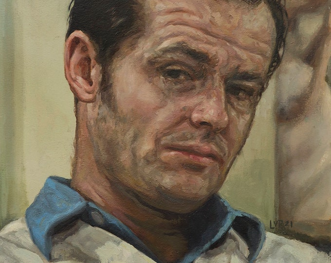 Jack Nicholson, print from oil painting, One Flew Over the Cuckoo's Nest