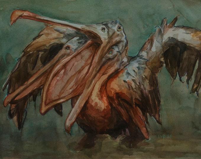 Original watercolor, 10x14in