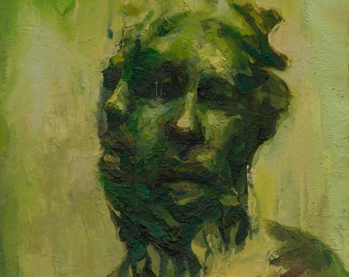 Canon (One-Hundred-and-Sixteenth), 7x7in Oil Painting