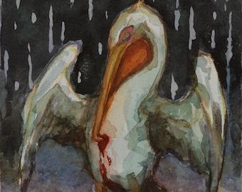 Original watercolor, 6x6in