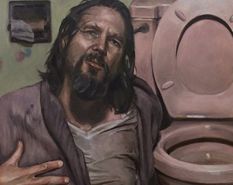 Big LEBOWSKI, PRINT from oil painting
