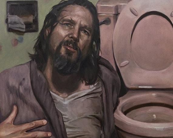 """Big LEBOWSKI, PRINT from oil painting - 8.5 x 11 """" / 11 x 17 """" /  13 x 19 """" fine art prints"""