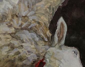Original watercolor, 6x8in