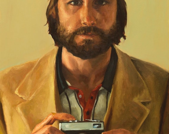 """Richie TENENBAUM, PRINT 8x11"""" / 13x19"""" from original oil painting by LVP, archival inks on fine art paper, inspired by The Royal Tenenbaums"""