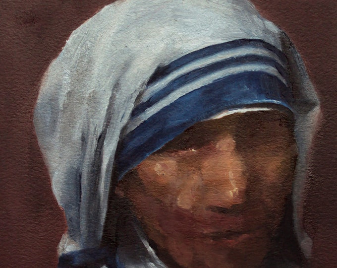 Beatified + Blessed, 7x8in Oil Painting
