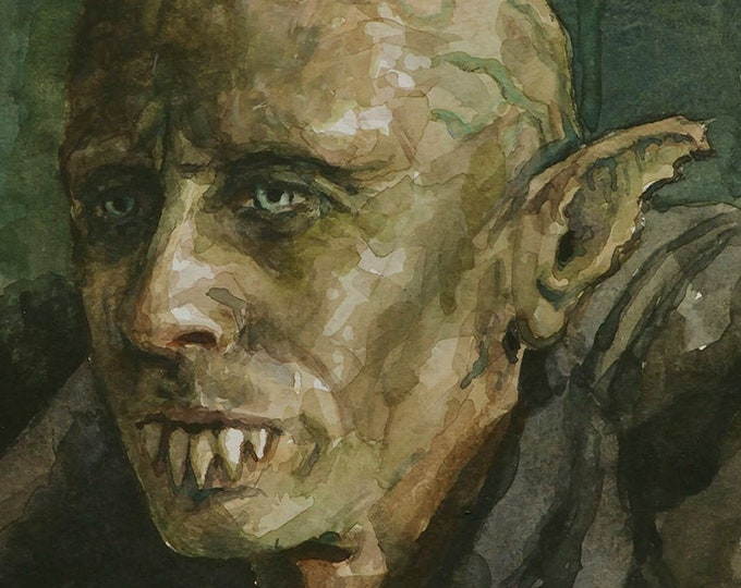 Petyr watercolor 6x8, What We Do In The Shadows, original painting