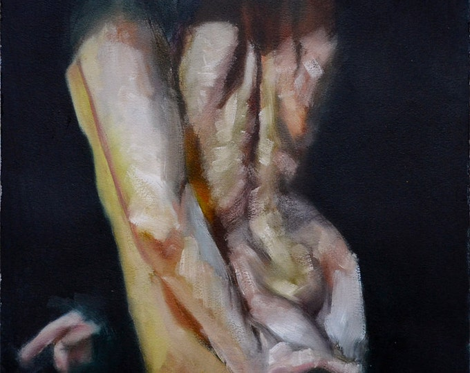 Shroud, Original Oil Painting