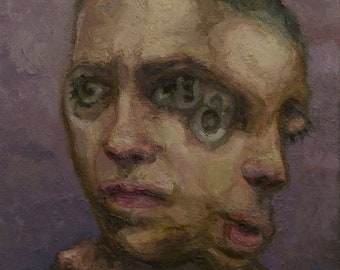 Antisaccadic molt, oil painting original