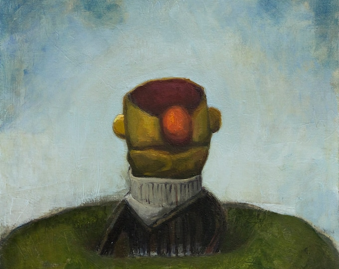 Ideation, 20x15in oil painting on paper