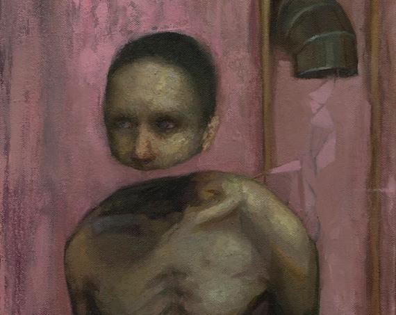 Entfaltung, Oil on Canvas 14x11in