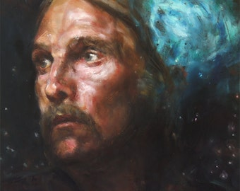 TRUE DETECTIVE, PRINT from oil painting