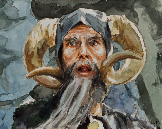 Tim the Enchanter, PRINT from watercolor painting - borderless print
