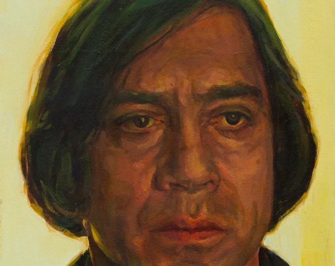 Anton Chigurh, oil painting