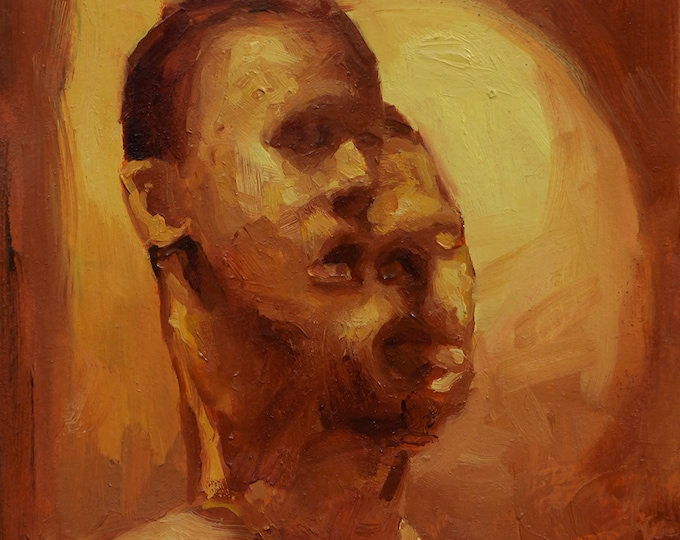 Canon (One-Hundred-and-Eleventh), 7x7in Oil Painting