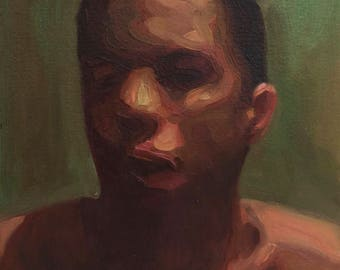 Canon (Fortieth), 7x7in Oil Painting