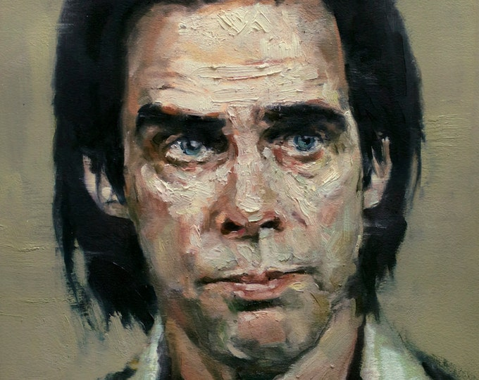 NICK CAVE, PRINT from oil painting - Now Borderless