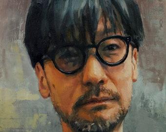 Hideo Kojima, oil painting original by LVP