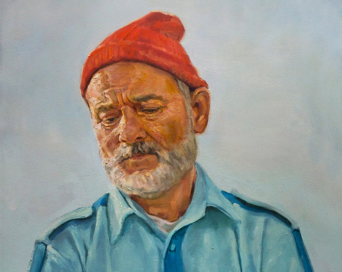 "Steve ZISSOU, PRINT from oil painting - 8.5x11 - 11x17 - 13x19"""