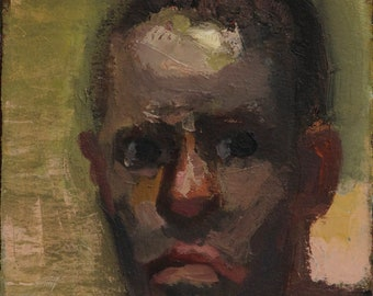 Oil Sketch Self-Portrait, Small Painting