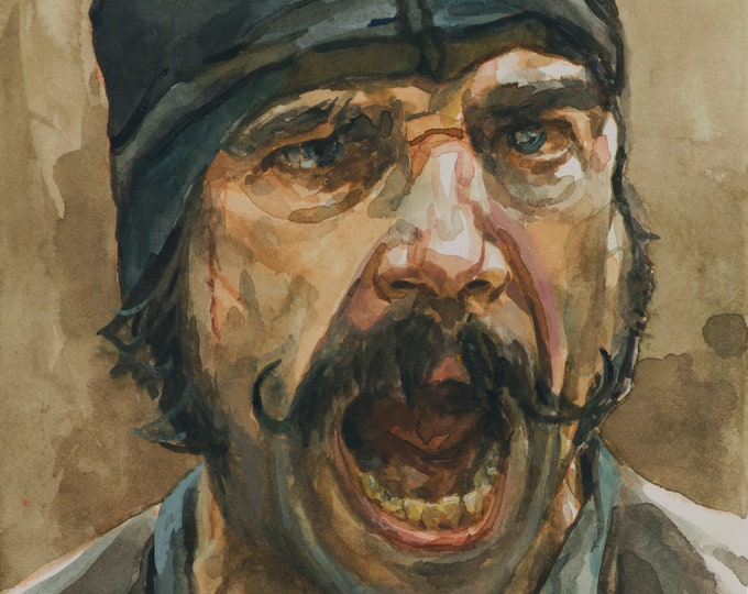 Bill The Butcher, PRINT from painting - fine art prints - Gangs of New York
