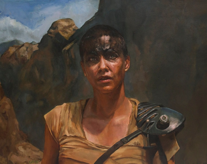 Imperator Furiosa, Original Oil Painting large scale