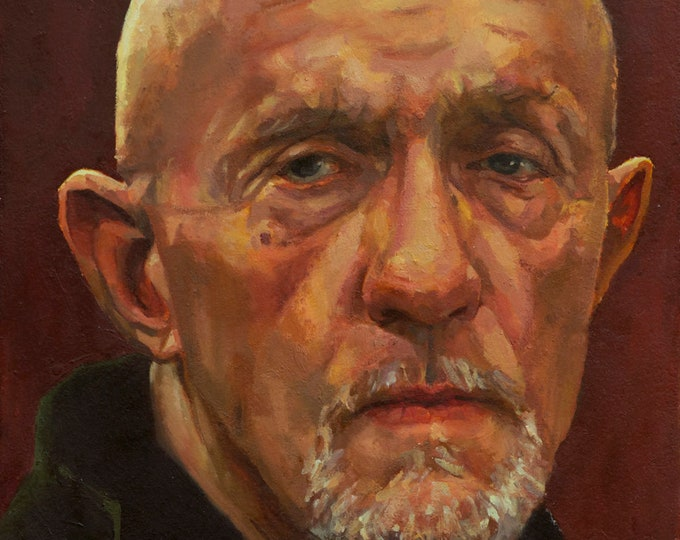 MIKE EHRMANTRAUT painting PRINT, Breaking Bad, Better Call Saul