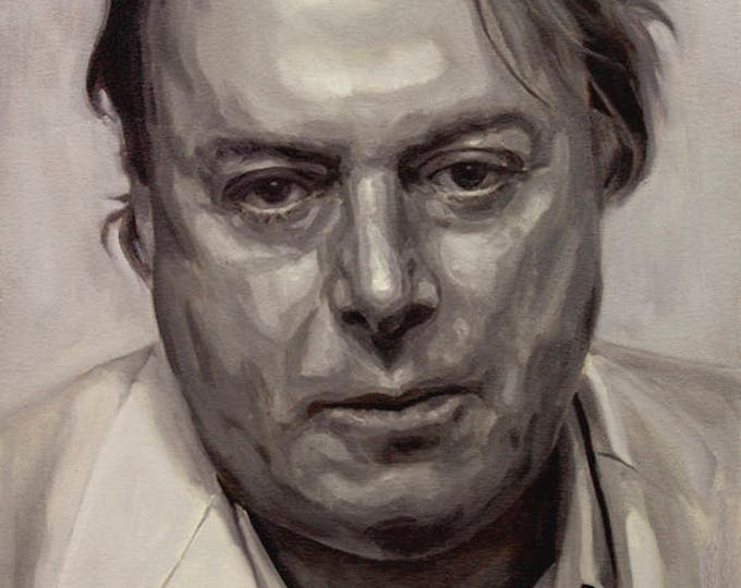 Christopher Hitchens, PRINT from oil painting - fine art prints