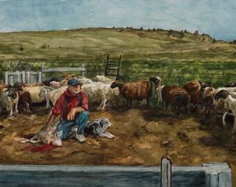 Original watercolor, 12x16in