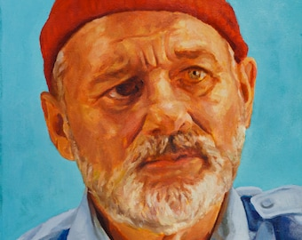 "Steve ZISSOU, PRINT from oil painting - 8.5 x 11 "" and 13 x 19 "" fine art prints, and new 11 x 17"""