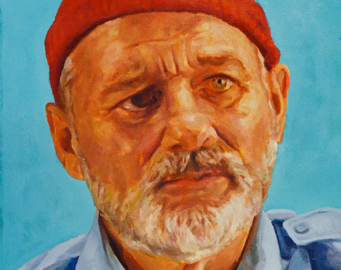 Steve ZISSOU, PRINT from oil painting