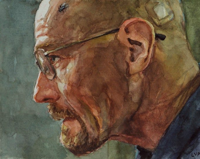 Breaking Bad FLY, PRINT from watercolor painting - Walter White / Heisenberg