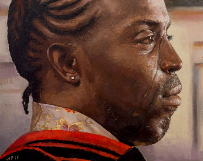 OMAR LITTLE, painting PRINT multiple sizes from original oil work, The Wire