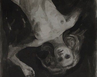 Figurative Study in ink, 10x14in