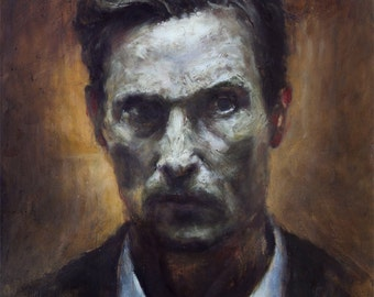 True Detective, fine art print portrait of Rust Cohle from original oil painting