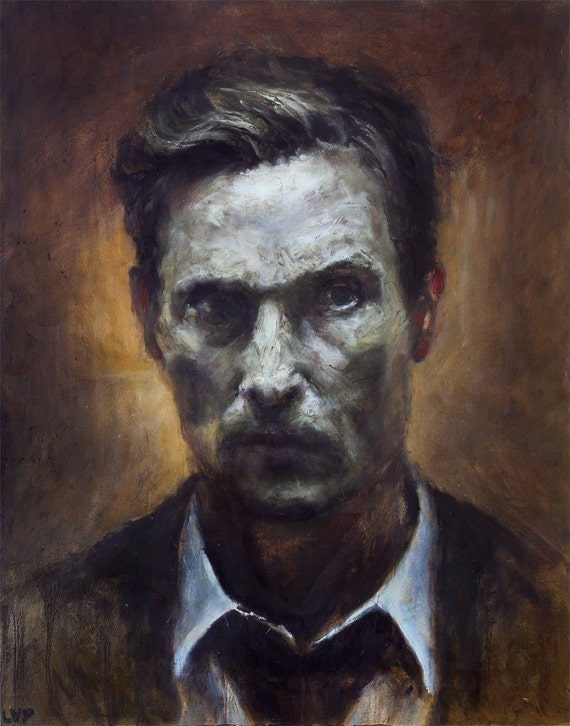 "TRUE DETECTIVE, PRINT from oil painting - 8.5 x 11 "" and 13 x 19 "" fine art prints"