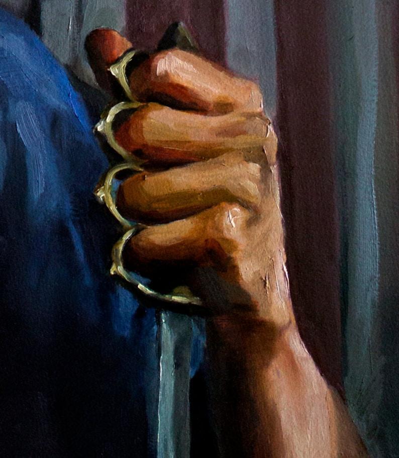 Jimmy Darmody Boardwalk Empire ART PRINT from original oil painting 13x19in