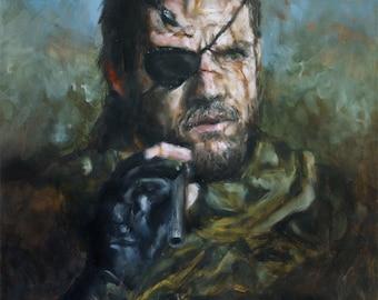 Big Boss, Print from Original Painting - Venom Snake MGSV