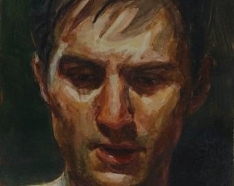 Travis Bickle watercolor, 8x6in, Taxi Driver, Robert Deniro