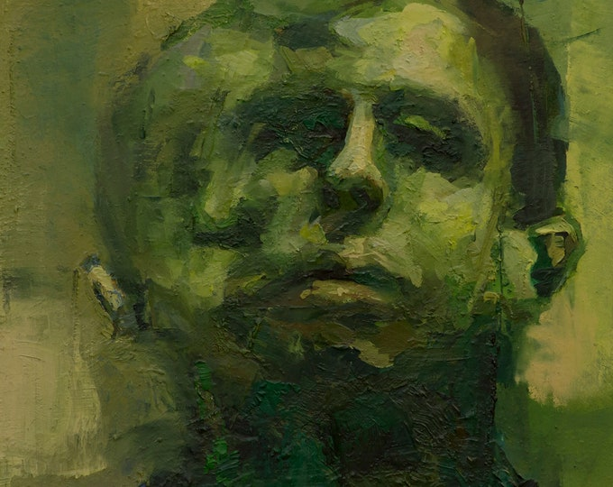 Canon (One-Hundred-and-Seventeenth), 7x7in Oil Painting