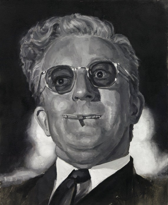 "Dr. STRANGELOVE, PRINT from oil painting - 8.5 x 11 "" - 11 x 17"" and 13 x 19 "" fine art prints"