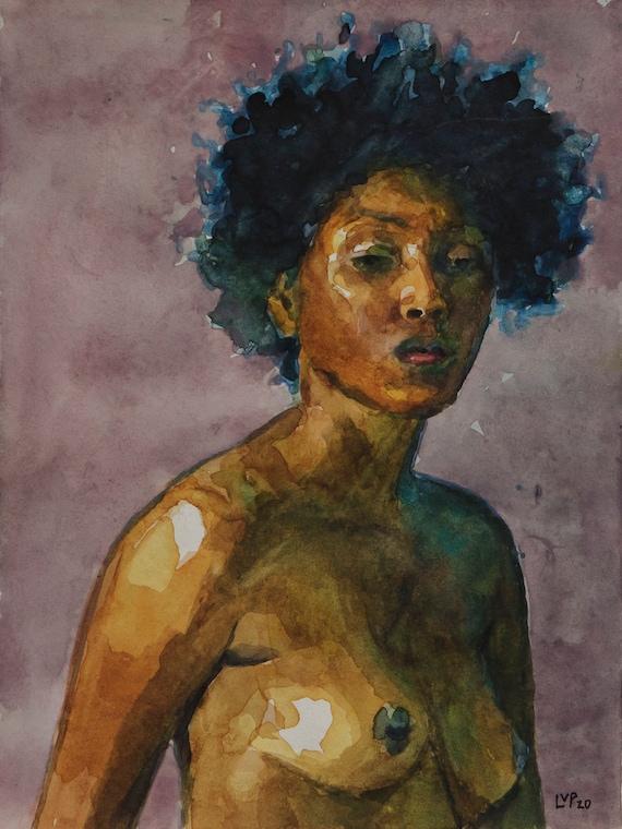 Original watercolor study, 8x6in