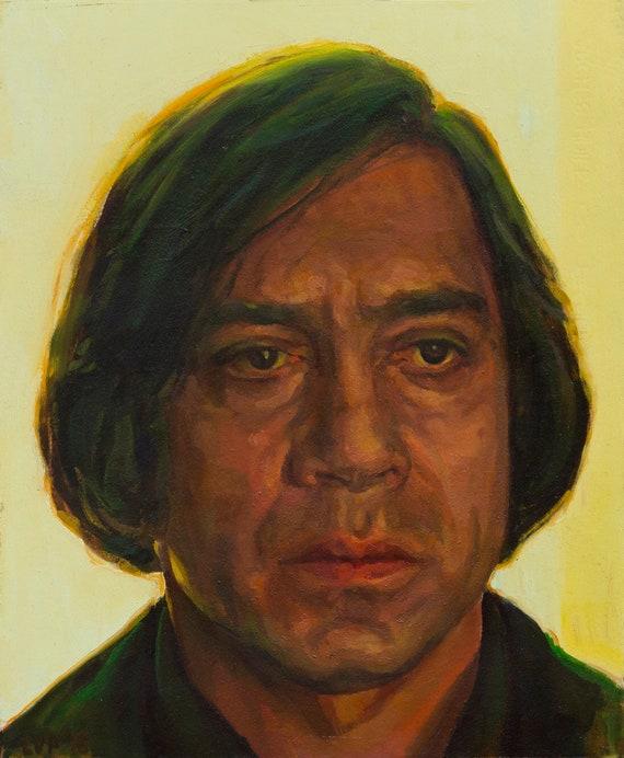 Anton Chigurh, oil painting