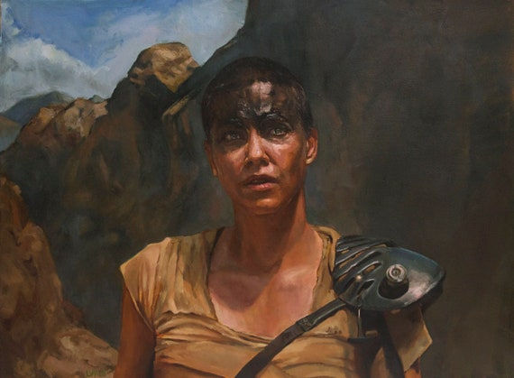 FURIOSA, painting PRINT multiple sizes from original oil work