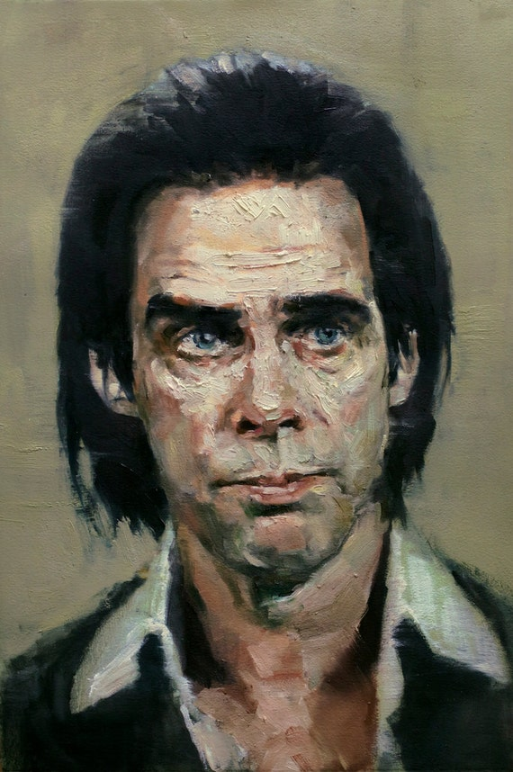 NICK CAVE, PRINT from oil painting - fine art prints 11x17in, 13x19in, and 8.5x11in