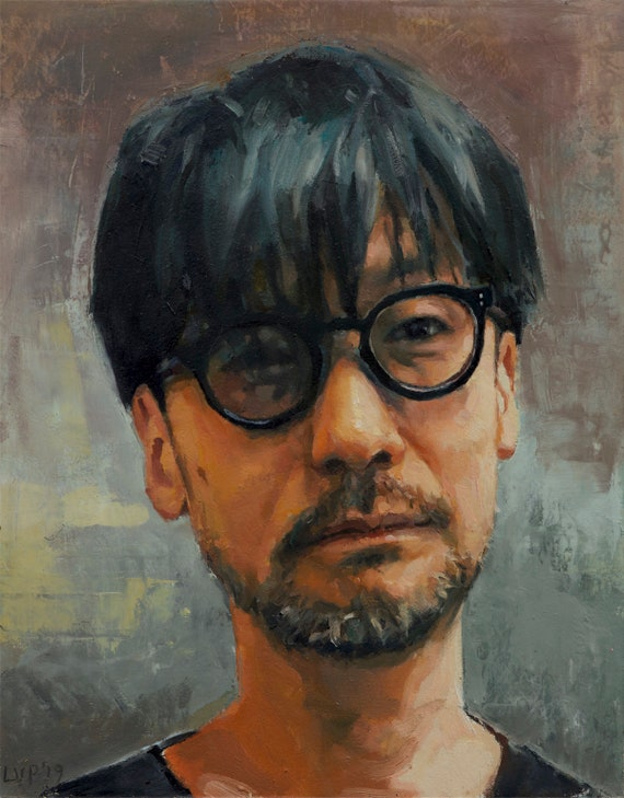 Hideo Kojima, oil painting original by LVP