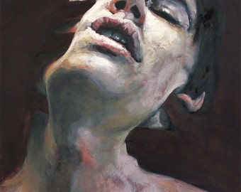 The Persistence of Suppressed Thoughts X - original oil painting by Cara & Louie - Oil on Panel, 24x14in